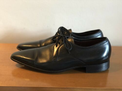 Florsheim Australia Laceup Brogues Black Leather Size 7 E Narrow