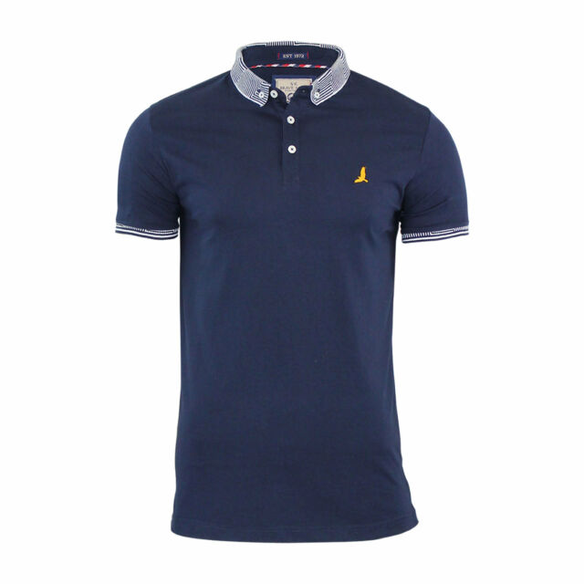df7886f9fd19 Mens Polo T Shirt Brave Soul Glover Cotton Collared Short Sleeve ...