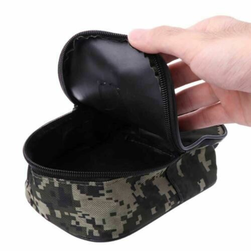 Portable Fishing Reel Mini Bag Pocket Fishing Tackle Outdoor Pouch Case M8W3