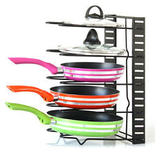 SimpleHouseware Kitchen Cabinet Pantry Pan and Pot Lid Organizer Rack Holder New