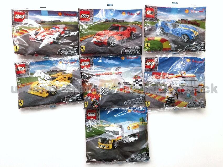 LEGO SHELL FERRARI SET of 7 Exclusive 40190 40191 40192 40193 40194 40195 40196