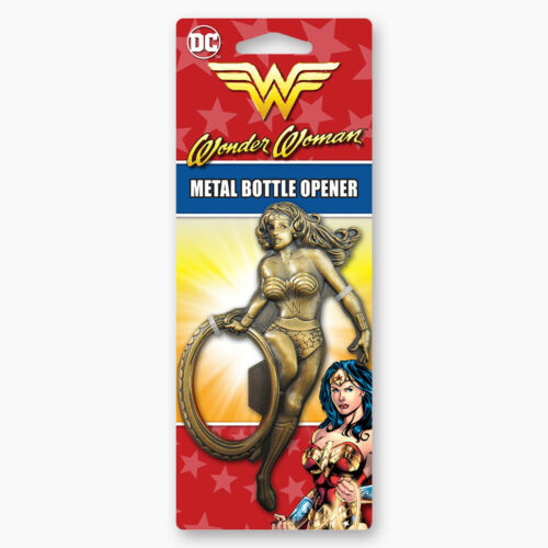 NEW UNUSED SEALED DC Comics Wonder Woman Figure with Lasso Metal Bottle Opener