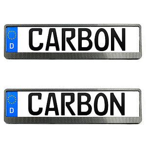 2x BMW Kennzeichenhalter in Carbon Kennzeichen Nummernschild Halter EUROCLIP