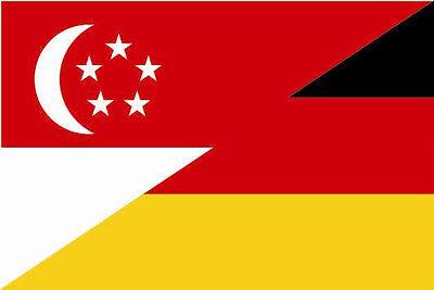Fahne Flagge Slowakei-Deutschland Freundschaftsflagge 20 x 30 cm Premiumqualität