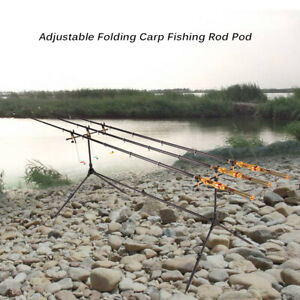 Lixada Adjustable Retractable Carp Fishing Rod Pod Stand ...