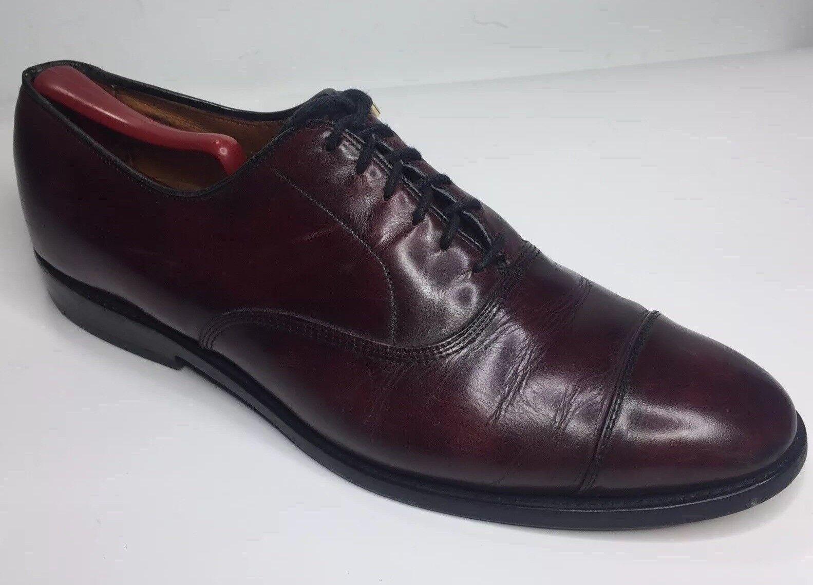 popolare Allen Edmonds Park Avenue 5875 Burgundy Captoe Captoe Captoe Oxford Dress scarpe Uomo 10.5 D  rivenditori online