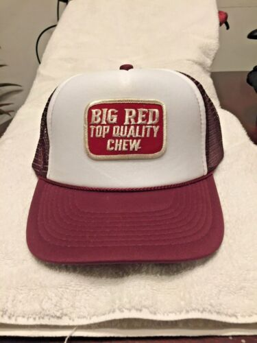 BIG RED CHEWING TOBACCO HAT CAP PATCH
