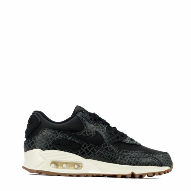 official photos 2bcdd 9e86b Nike Air Max 90 Prem Black Sail Gum Sole Womens Shoes Sz 7.5 443817 010