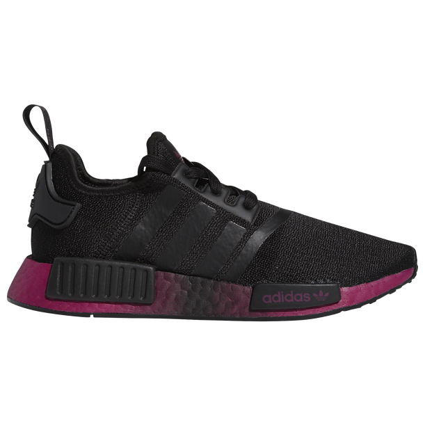 Women's Adidas Originals NMD R1 CORE BLACK/POWER BERRY Sneakers Sizes 6-8