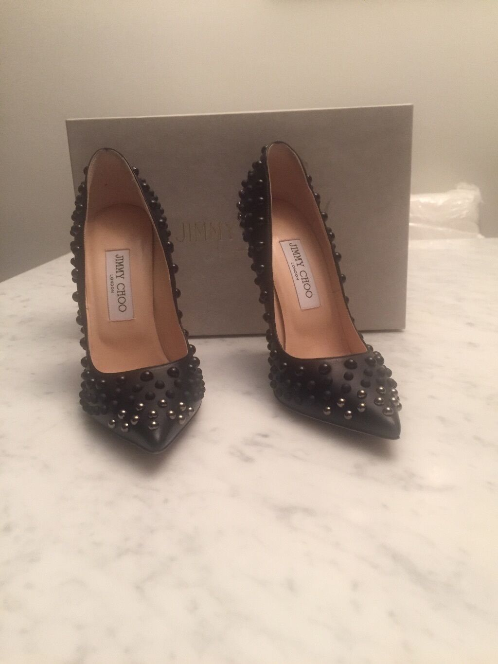 Jimmy Choo Abel Studded Point-Toe Pump 37.5