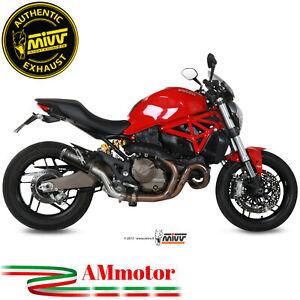 Exhaust-Muffler-Mivv-Ducati-Monster-821-2015-15-Slip-On-MK3-Black-Motorcycle