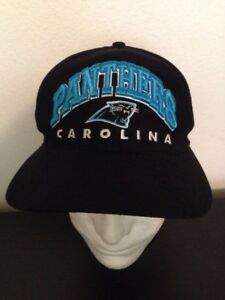d9c727222 CAROLINA PANTHERS RAISED STITCHING NFL VINTAGE SNAPBACK 90'S HAT NFL GAME  DAY