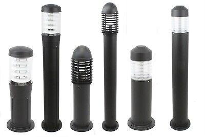 8077 Black Cast Aluminium 500mm Bollard Light Ip44 240v