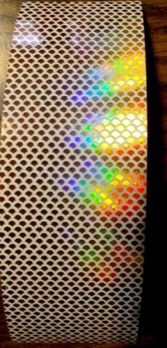 """2/"""" X 6/"""" Holographique échelle Water Proof leurre Bande 3 pièces"""