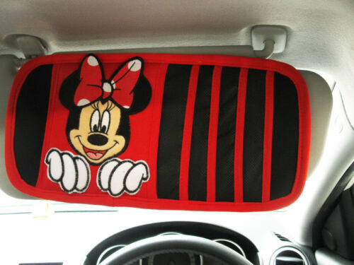 Minnie Mouse Doll Toys Car Accessories Sun Visor Sunshade Sunshield Organiser