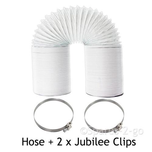 """10 M Extra Long Tuyau D/'4/"""" PVC Solide Jubilee Clips pour CANDY Sèche-linge"""