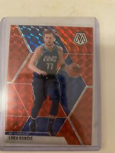LUKA-DONCIC-2019-20-Mosaic-Hobby-Red-Prizm-44-Dallas-Mavericks