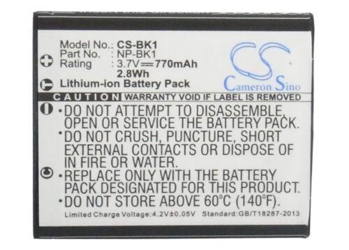 Batería Li-ion Para Sony Np-fk1 Np-bk1 Mhs-pm5 Cyber-shot Dsc-w180 Mhs-pm1 Nuevo