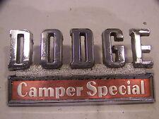 1969 70 71 DODGE TRUCK CAMPER SPECIAL EMBLEM OEM #2833662 POWER WAGON