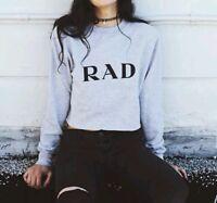 Brandy Melville Sweatshirt Gray Cropped Nancy rad Sweatshirt Top Sold Out