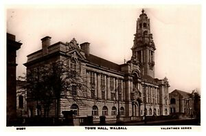 Postcard-TOWN-HALL-WALSALL-Ref-E5