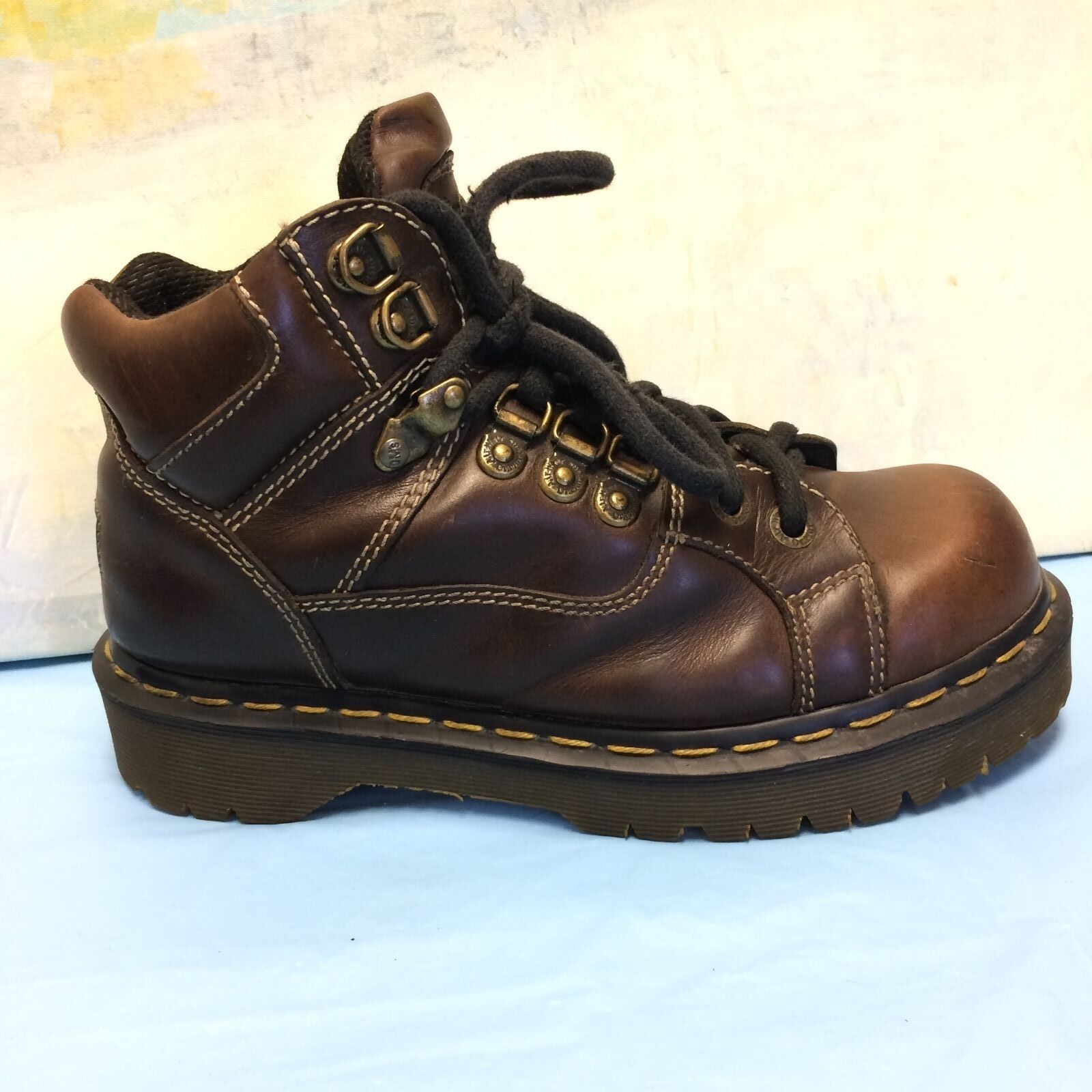 Dr Martens Uomo Brown Pelle Hiking Ankle Stivali 9349 Size UK5/ M6/ L7