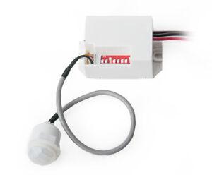 Mini-IR-Bewegungsmelder-Einbau-Infrarot-Sensor-12V-100-8m-5-Sek-8-Min