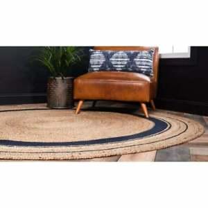 Bohemian-Round-Jute-Rug-Vintage-Area-Floor-Mats-Living-Room-Rag-Rug-Dhurrie