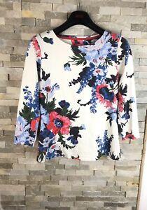 Joules-Ladies-Size-8-UK-Floral-Cotton-Jersey-Top