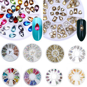 Various-Rhinestones-Pearls-Wheels-Nail-Body-Art-Face-Gems-Festival-Costume-Craft