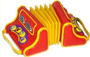 Details about The Wiggles Musical Singing Play Along Pretend Toy Accordion  Accordian