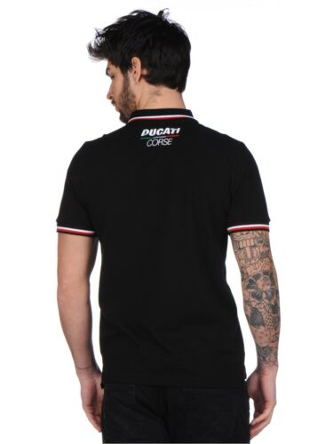 Officiel Ducati Corse Noir Polo Shirt 17 16002