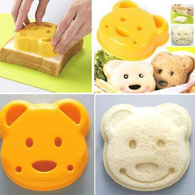 Cute Little Teddy Bear Shape Sandwich Bread Cake Mold Maker DIY Mould Cutter UK
