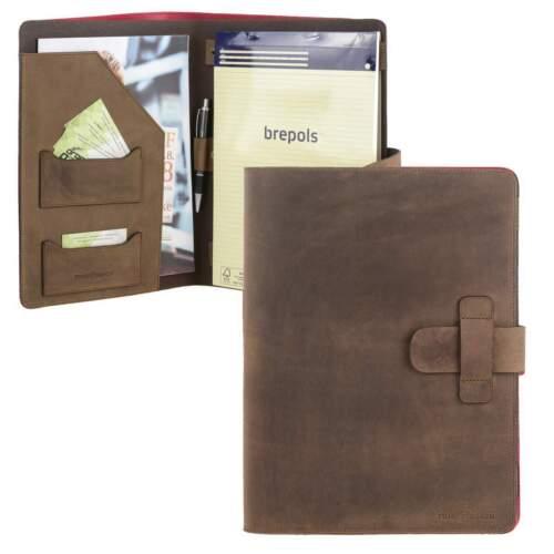 Block und Kugelschreiber Ruitertassen Schreibmappe A4 aus Sattelleder 1 Stück