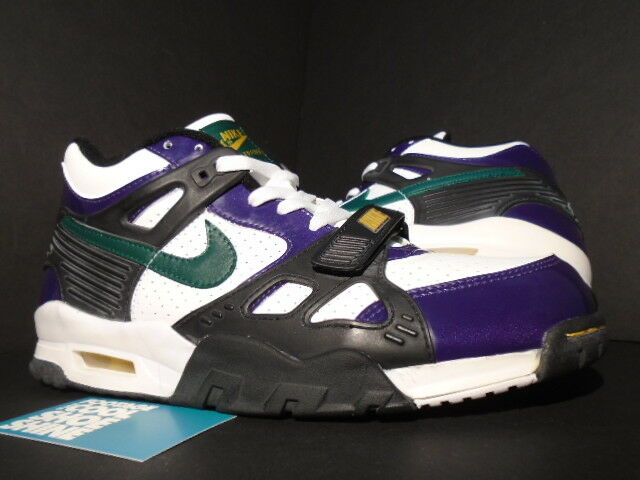 2005 NIKE AIR TRAINER III 3 MARDI GRAS 1 WHITE CYPRESS GREEN BLACK QUASAR 10.5