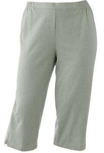 e27d3aecc7c Cathy Daniels Womens Plus Pull-On Solid Sage Green Capris Pants 1X ...