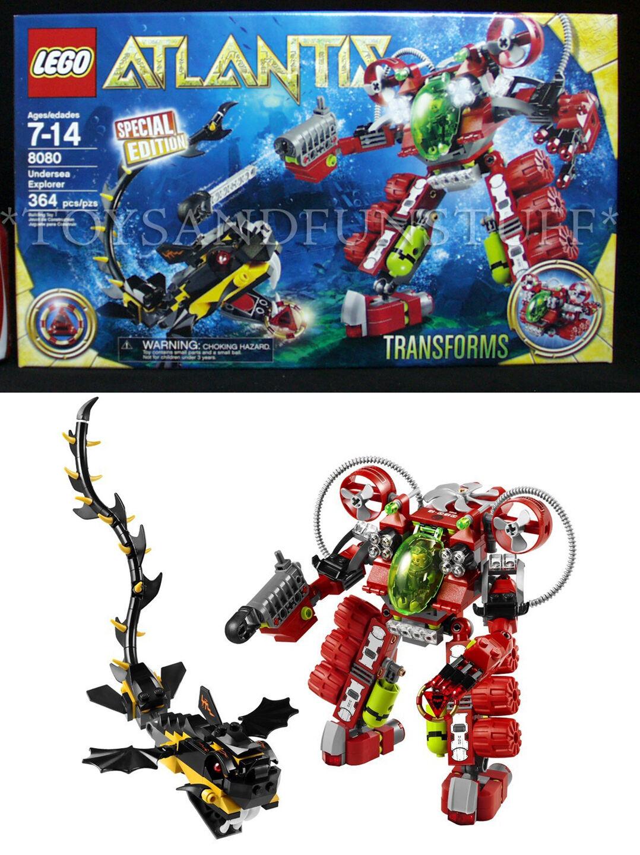 NEW - ATLANTIS Undersea Explorer LEGO 8080 - SPECIAL EDITION - 364 Pc Transforms