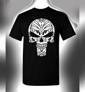 8cd80f7e9 Punisher Sugar Skull T-Shirt Day Of Dead Crossover Tee Dia De Los ...