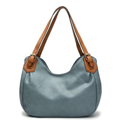 New Women Vegan Leather Rommy Large Tote Hobo Work Shopper Handbag Shoulder Bag