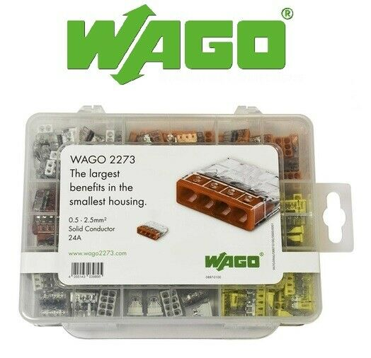 Wago 887-100 - 2273 Series Push Wire Connectors Selection Case 200 Connectors