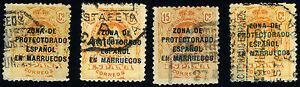 MARRUECOS-LOTE-4-SELLOS-USADO-ESTAFETA-A-DE-CAMPANA