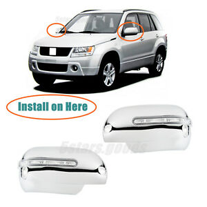 5-Doors Chrome Side Door Handle Covers Trims For 2006-2013 Suzuki Grand Vitara