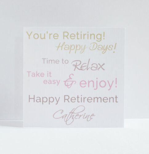 Personalised Retirement Card Enjoy. Good luck You/'re Leaving Happy Retirement