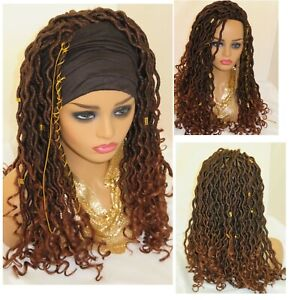 Crochet Faux Locks Braided Wig Headband Faux Locks Warm Head Wrap Handmade Ebay