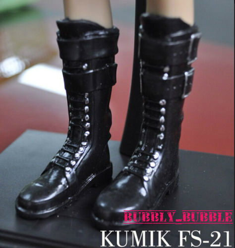KUMIK 1//6 Black Long Boots FS-21 For Black Widow Catwoman SHIP FROM USA