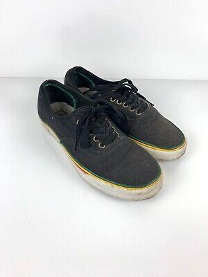 VANS Black Canvas Shoes Mens Sz 10.5