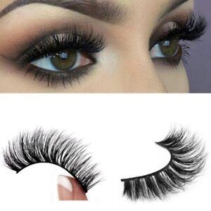 Top-3D-100-Mink-Soft-Long-Natural-Thick-Makeup-Eye-Lashes-False-Eyelashes-Black