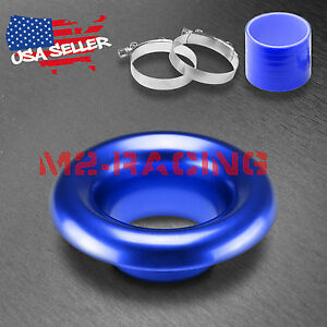 """BLUE 4/""""-4/"""" AIR INTAKE//PIPING RUBBER COUPLER FOR MITSUBISHI//EAGLE"""