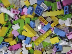 100-Bulk-Lego-Bricks-amp-Plates-Friends-Girl-Colors-Lot-Pink-Purple-Azure-Lime