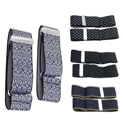 LD/_ 1 Pair Shirt Anti-slip Elastic Armband Sleeve Garter Bartender Cuff Holder